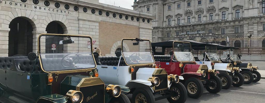 Вене 30 минутах электрический старинный автомобиль, экскурсия