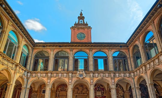Guided tour of Archiginnasio Palace Bologna with food tasting