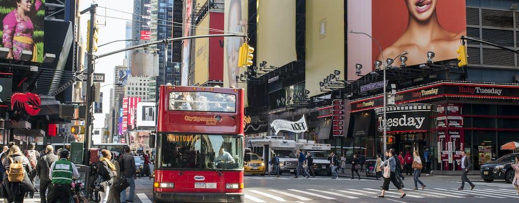Excursão de ônibus hop-on hop-off da parte alta da cidade e do centro de Nova York com ingressos para as atrações locais
