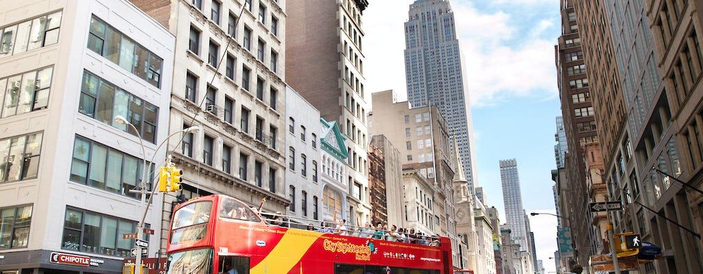 Recorrido en autobús turístico por el centro de Nueva York y el centro de Nueva York