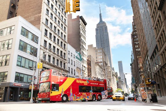 Hop-on-hop-off bus tour of Uptown and Downtown New York
