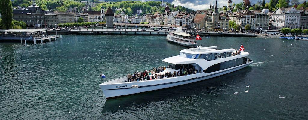 Crucero por la bahía de Lucerna en el panorámico yate Saphir
