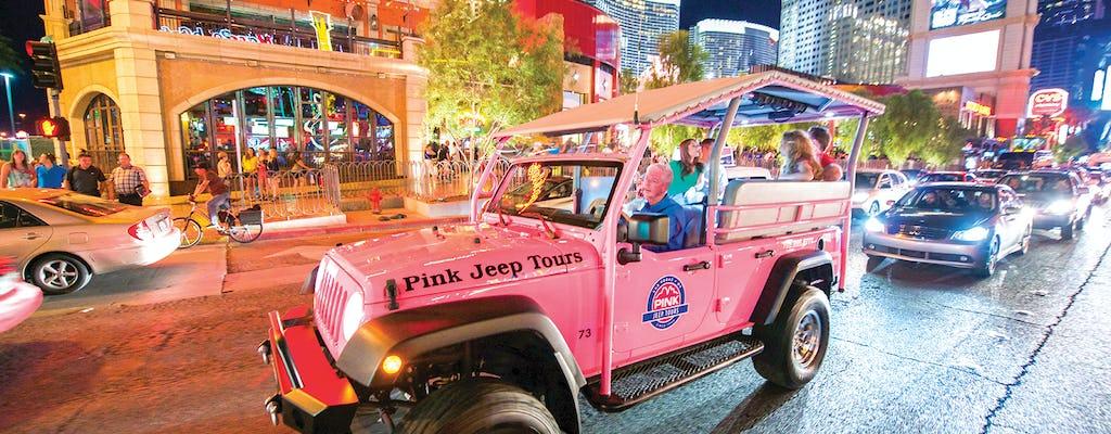 Oświetlone Vegas podczas historycznej wycieczki