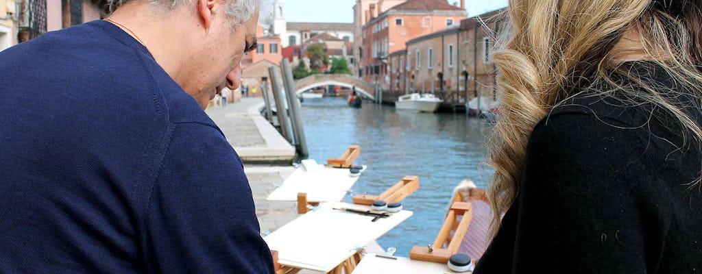 Laboratorio di acquerelli a Venezia con un artista famoso