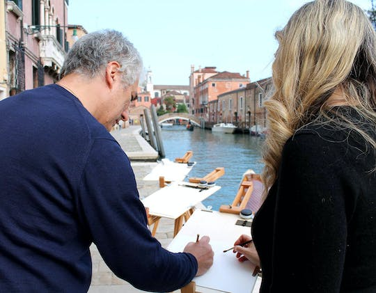 Watercolors workshop in Venice with a famous artist