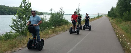 Self-balancing scooter tour around Lake Störmthal