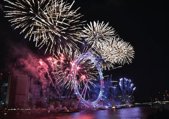 New Year's dinner and Thames Cruise with fireworks onboard the Sarpedon