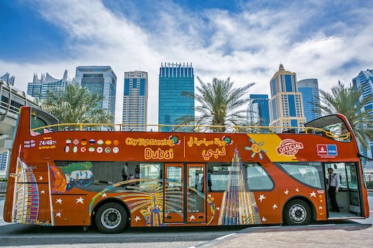 Tour di Dubai in bus hop-on hop-off di 1,2 o 3 giorni