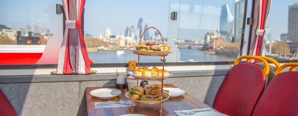Tea bus pomeridiano con tour panoramico di Londra