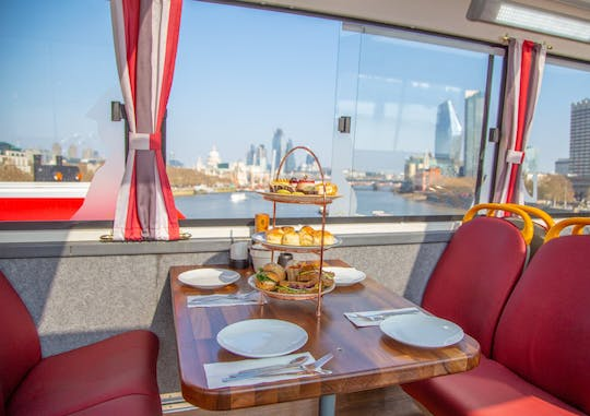 Afternoon tea bus with panoramic tour of London