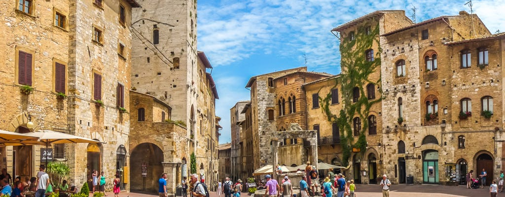 San Gimignano, Siena, Monteriggioni and Chianti with lunch and wine tasting