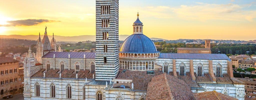 Atardecer en Siena y cena en una bodega Chianti