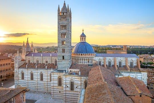 Pôr do sol em Siena e jantar em uma vinícola de Chianti