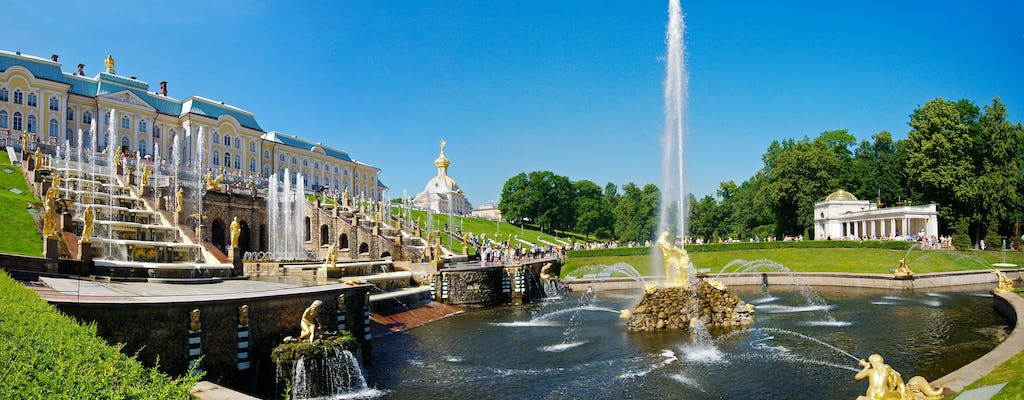 Half day walking tour to Peterhof and the Grand Palace in St. Petersburg