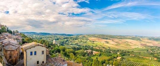 La esencia de la gira de la Toscana con degustación de vinos y almuerzo.