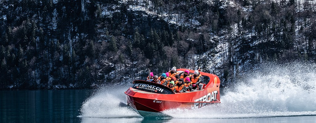 Winter Jetboat Ride with Fondue in Interlaken