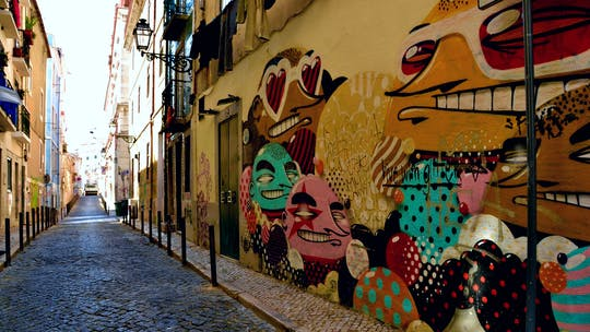 Self-guided Discovery Walk in Lisbon's Bairro Alto and Bica: fun figures and fabulous views