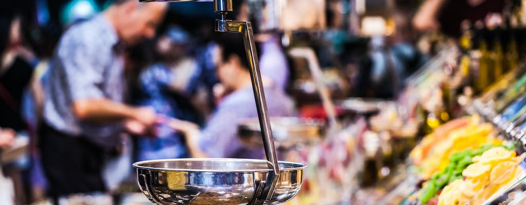 Food, wine and history guided tour with La Boqueria Market visit