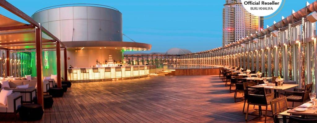 Entradas para o Burj Khalifa e refeição de 3 pratos no Rooftop