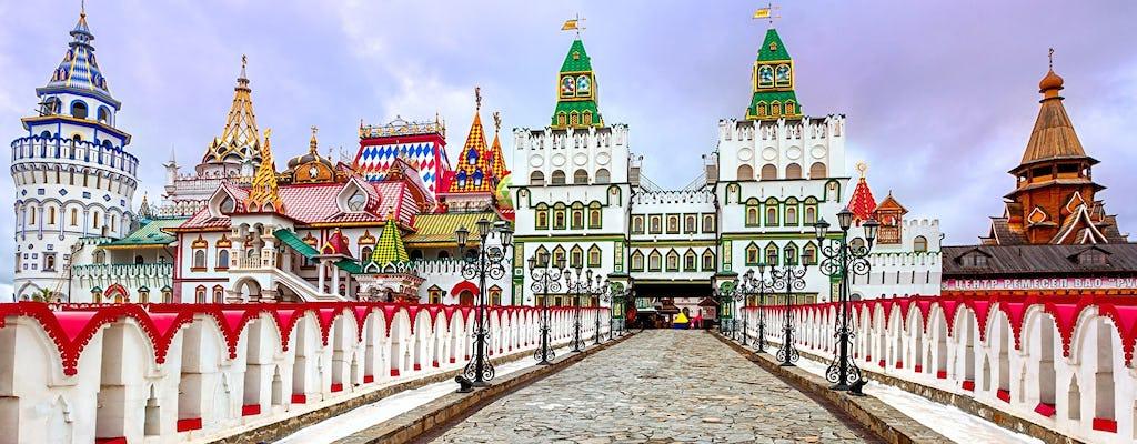 Izmailovo: Kreml, targ z pamiątkami i antykami oraz muzeum wódki z degustacją