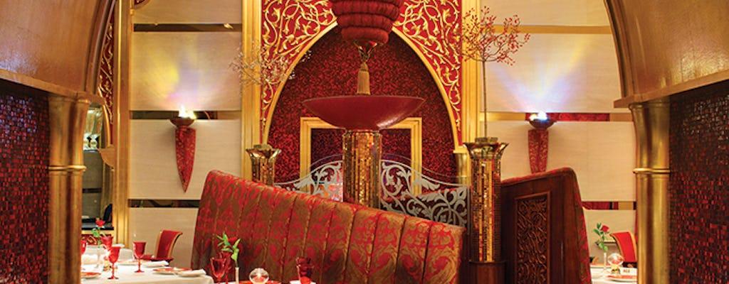Arabic lunch or dinner at Al Iwan restaurant Burj Al Arab
