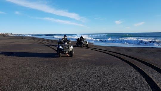 Golden Circle et visite de la plage noire en VTT