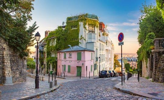 Jogo e tour pela cidade de Montmartre em Paris