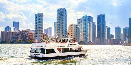 Boat cruise of Miami's Biscayne Bay