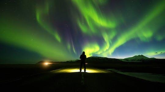 Aurora boreal e observação de estrelas