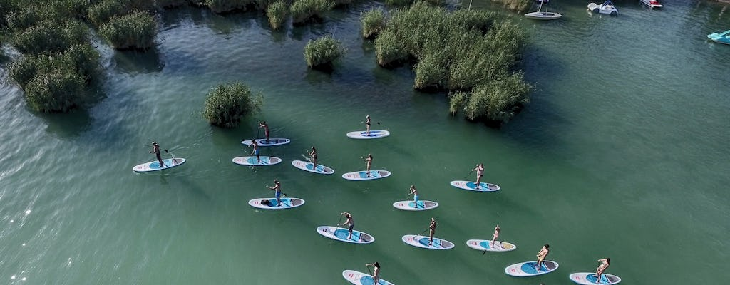 Stand up paddle tour at Lake Balaton