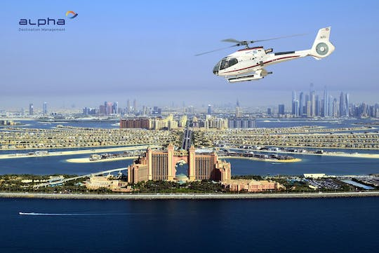 17-minute helicopter tour over Dubai