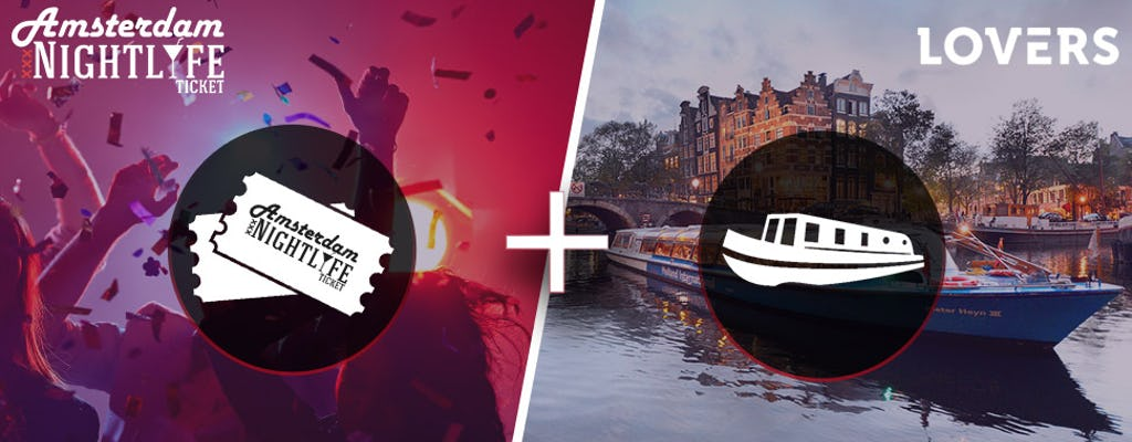 Amsterdam Nightlife y boleto de crucero en barco abierto por el canal