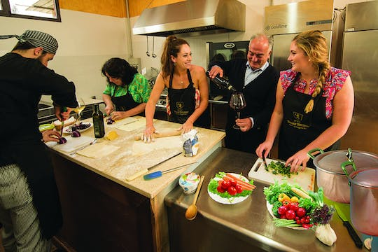 Tuscan cooking class with tasting at Tenuta Torciano