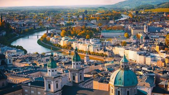 Тур в Зальцбург панорама города с кофе и торт