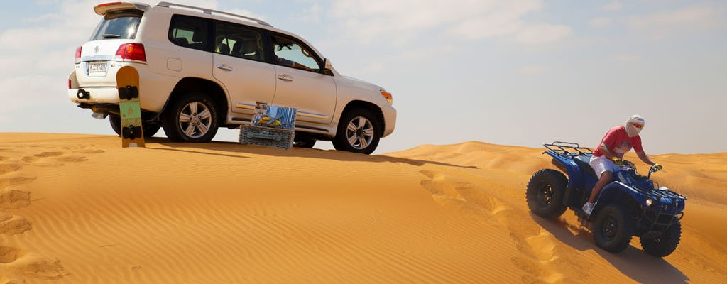 Desert safari with quad ride and beach picnic brunch