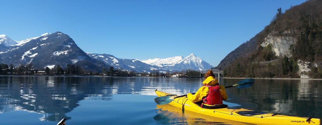 Winter Half Day Kayak tour on Lake Brienz