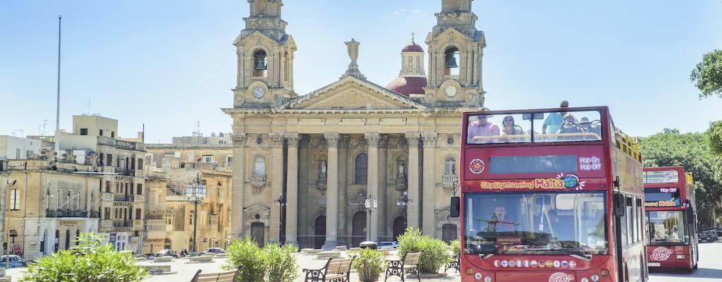 Tour en autobús turístico por Malta con opción de tour en barco