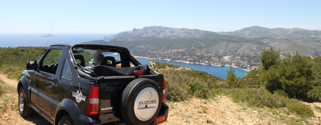 Jimny Jeep Ride en la carretera Marsella-Cassis