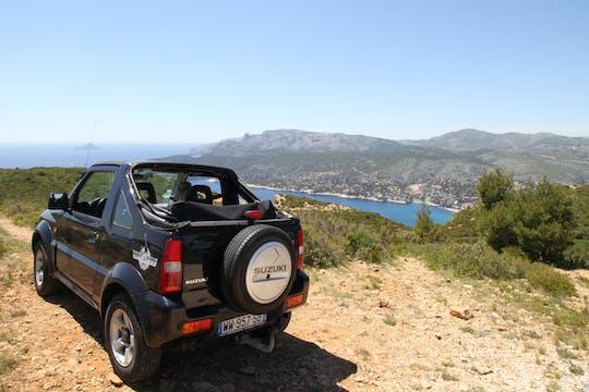 Jimny Jeep Ride na drodze Marsylia-Cassis
