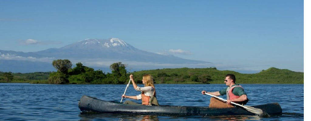Lake Duluti canoeing by the Kilimanjaro