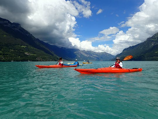 Half-day kayak tours on Lake Brienz