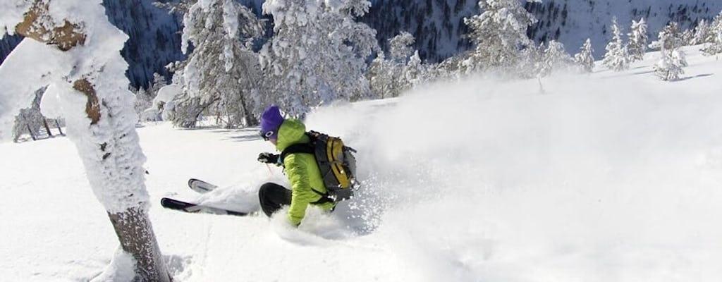 Slalom and alpine skiing experience
