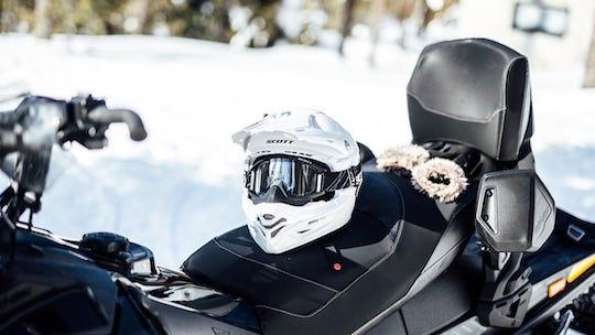 Snowmobile tour with ice fishing