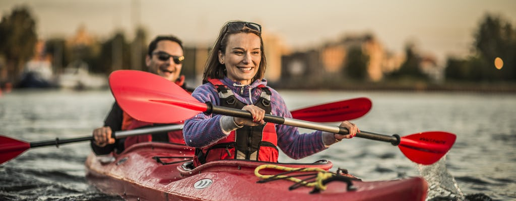Guided sunset kayak tour of Gdansk