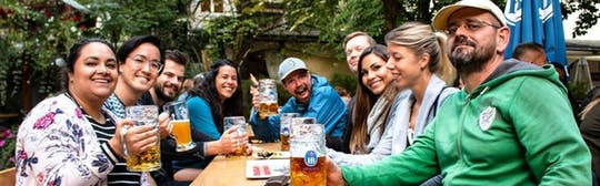 Munich Night Bike Tour with beer garden stop