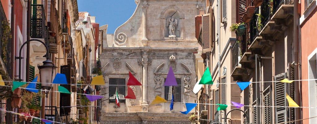 Cagliari self-balancing scooter tour with aperitivo
