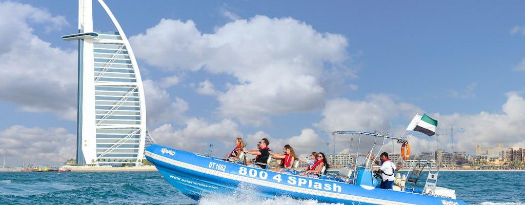 Excursión turística de 1 h 30 min en lancha motora desde el puerto deportivo de Dubái