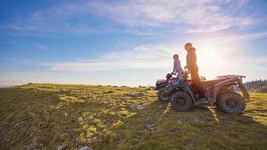 Midnight sun golden hour ATV ride