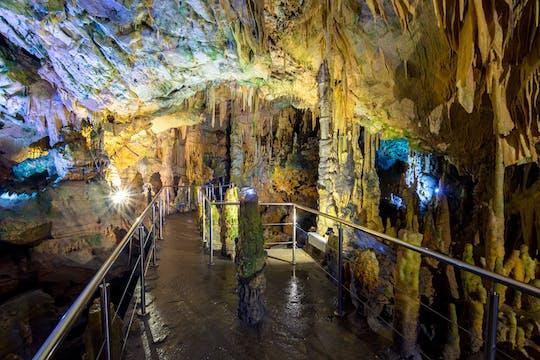 Grottes de Diros et visite de Kardamyli