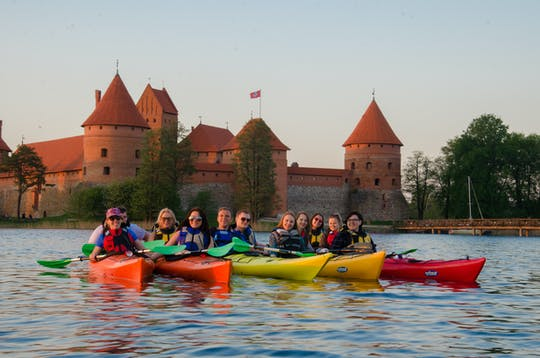 Trakai classic kayak tour with optional pick-up